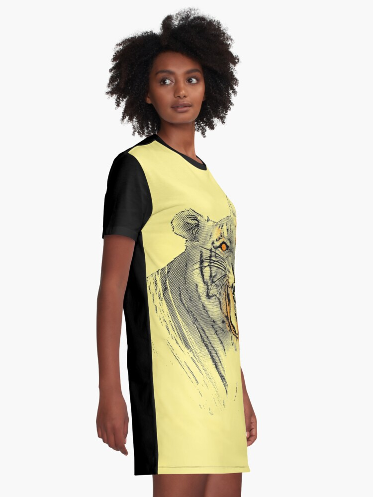 Alternate view of Saber-toothed Tiger Graphic T-Shirt Dress
