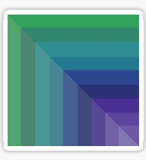 Contemporary Cool Hues Sticker