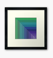 Contemporary Cool Hues Framed Print
