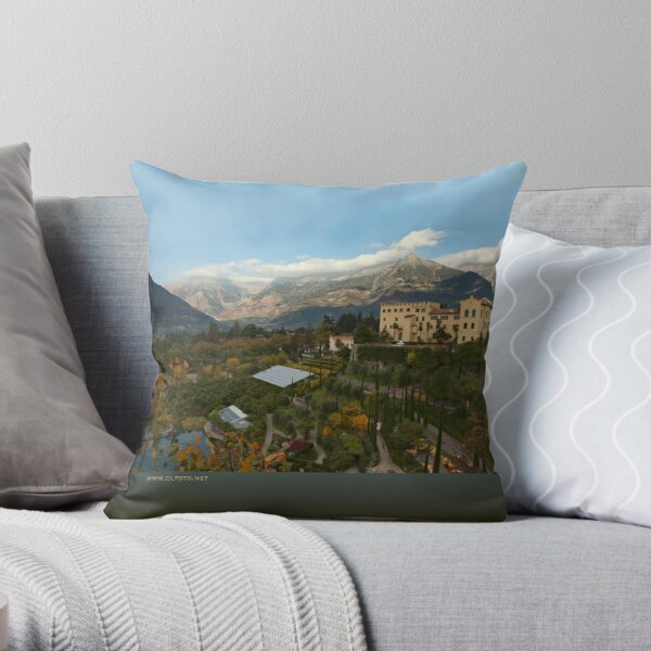 Schloss Trauttmansdorff, Merano/Meran, Italy Throw Pillow