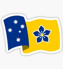Proposed Australian Capital Terrritory (ACT) Flag - Flying Sticker