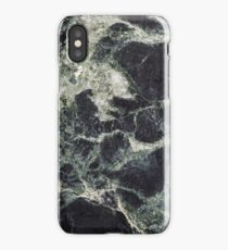 Dark Green Marble Abstract Background iPhone Case/Skin