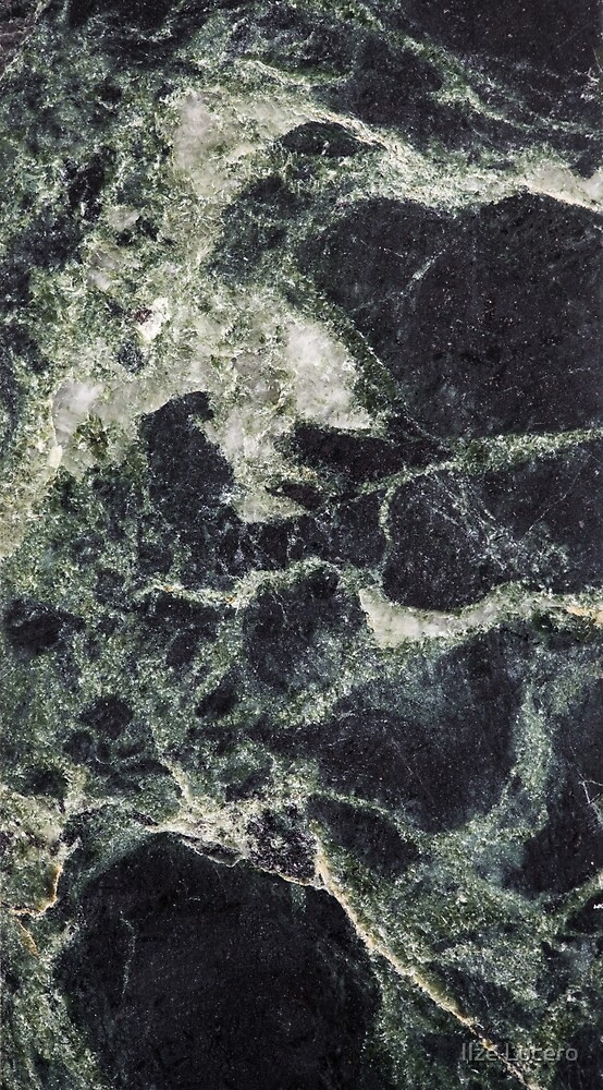Dark Green Marble Abstract Background by Ilze Lucero