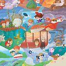 Miyazaki Fresco  by orioto