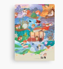 Miyazaki Fresco  Canvas Print