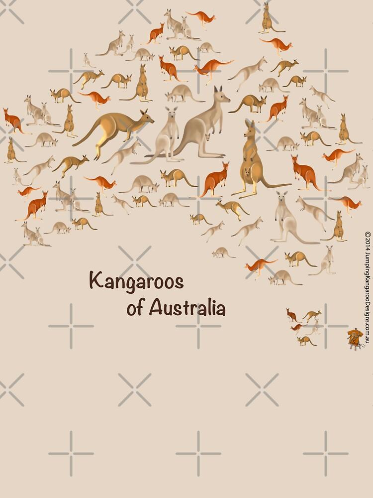 Kangaroo Map of Australia by JumpingKangaroo