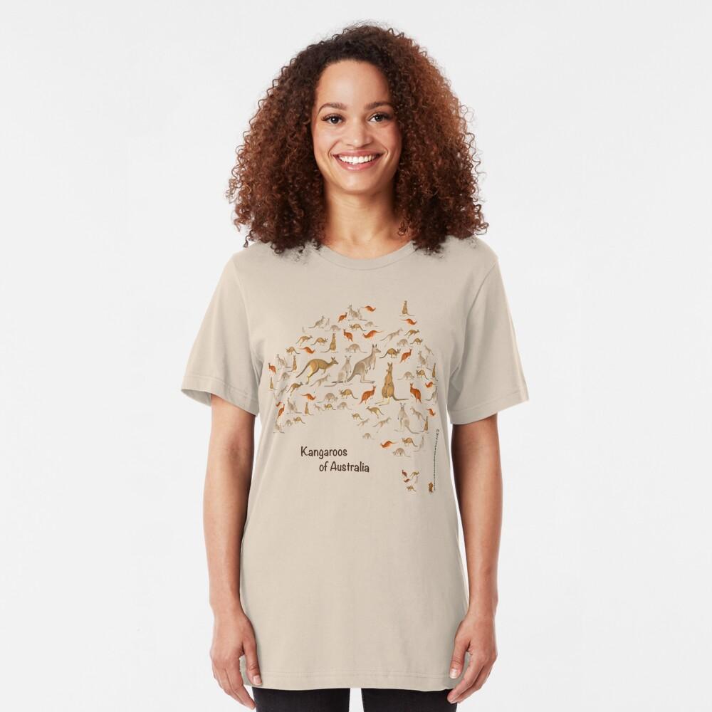 Kangaroo Map of Australia Slim Fit T-Shirt