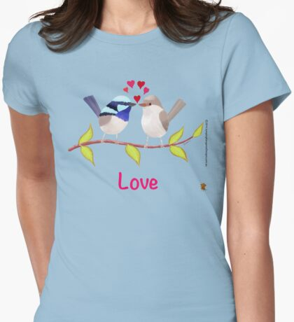 Adorable Blue Wren Birds in Love T-Shirt