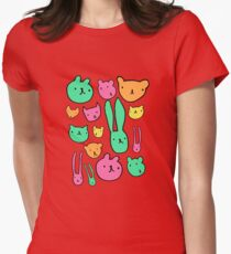 animals two Womens Fitted T-Shirt