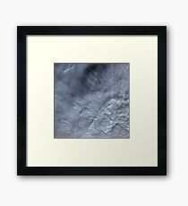 Canadian Pacific Ocean Clouds Satellite Image Framed Print
