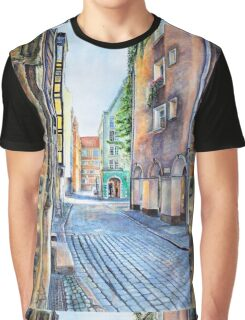 Gdansk watercolor Graphic T-Shirt