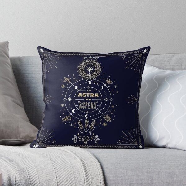 Ad Astra Per Aspera Throw Pillow