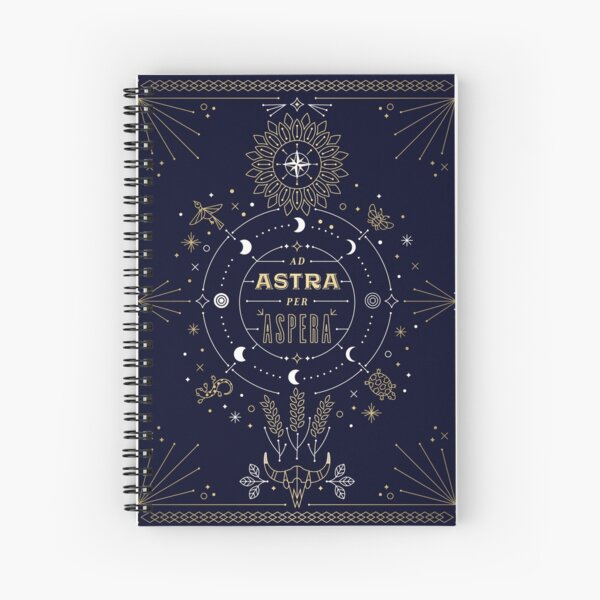Ad Astra Per Aspera Spiral Notebook
