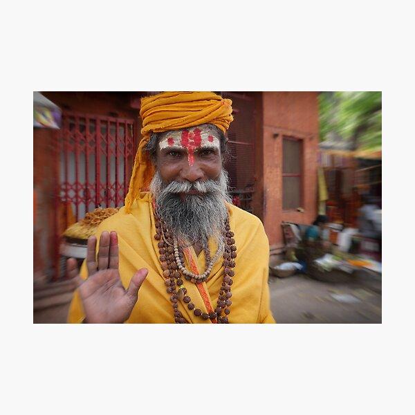sadhu in the street | varanasi Photographic Print