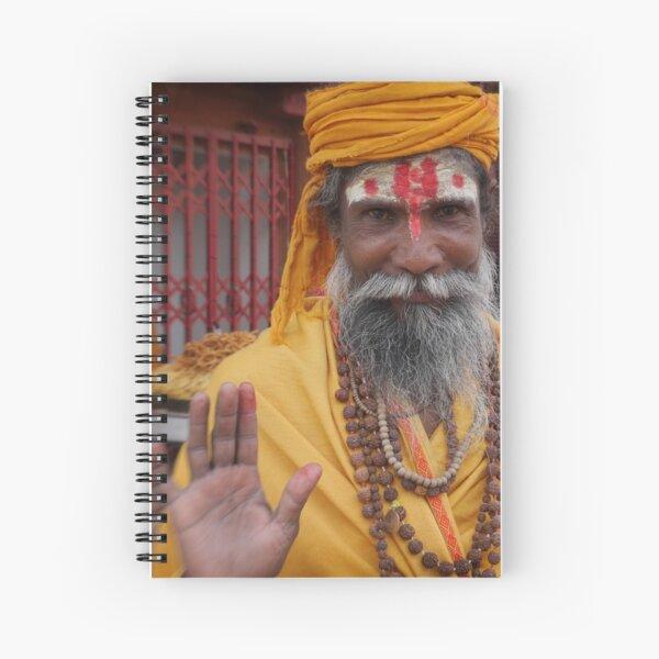 sadhu in the street | varanasi Spiral Notebook