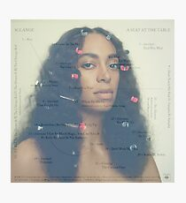a seat at the table, solange Photographic Print