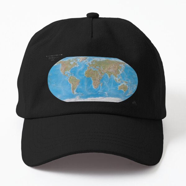 #Physical #Map of the #World 2003 Dad Hat