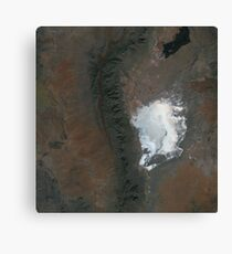 Spaceport America and White Sands New Mexico Satellite Image Canvas Print