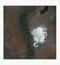 Spaceport America and White Sands New Mexico Satellite Image Photographic Print