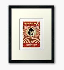 Pulp Faction - Mia Framed Print