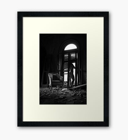 Satori- Self Portrait Abandoned Mansion, NY Framed Print
