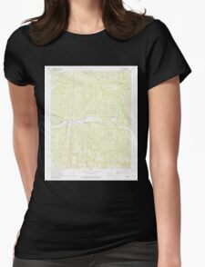 USGS TOPO Map Arkansas AR Oark 259279 1973 24000 Womens Fitted T-Shirt