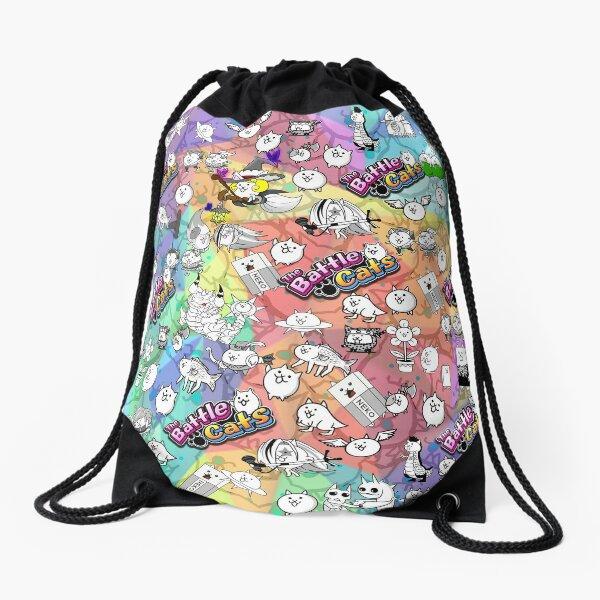 Battle Cats Drawstring Bag