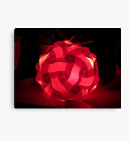 My red lamp Canvas Print