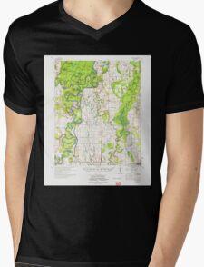 USGS TOPO Map Arkansas AR Gregory 260082 1972 62500 Mens V-Neck T-Shirt