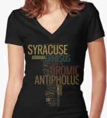 Shakespeare's The Comedy of Errors Wordplay Women's Fitted V-Neck T-Shirt