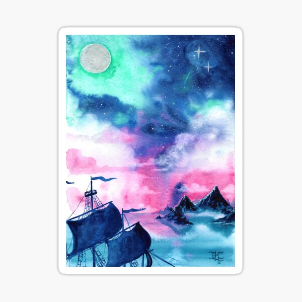 Neverland Sky Sticker