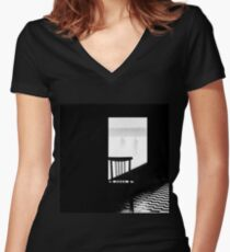 Snowstorm Women's Fitted V-Neck T-Shirt