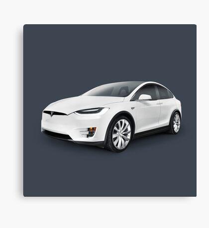 Tesla Model X luxury SUV electric car art photo print Canvas Print
