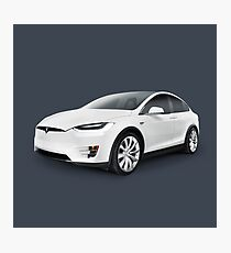 Tesla Model X luxury SUV electric car art photo print Photographic Print