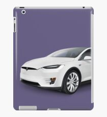 Tesla Model X luxury SUV electric car art photo print iPad Case/Skin