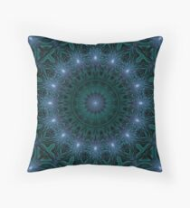 Light Transition Matrix Mandala Throw Pillow