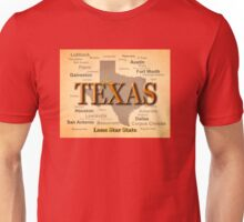 Texas Map Silhouette  Unisex T-Shirt