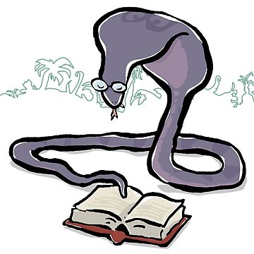 spectacled cobra reading by greendeer