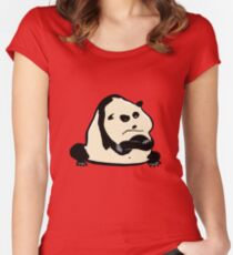 panda bear Women's Fitted Scoop T-Shirt