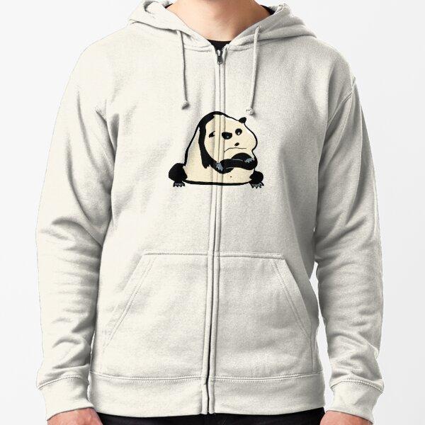 panda bear Zipped Hoodie
