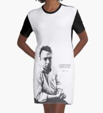 Christopher Hitchens - pen ink style Graphic T-Shirt Dress