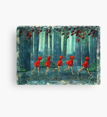 5 lil reds 1 Canvas Print