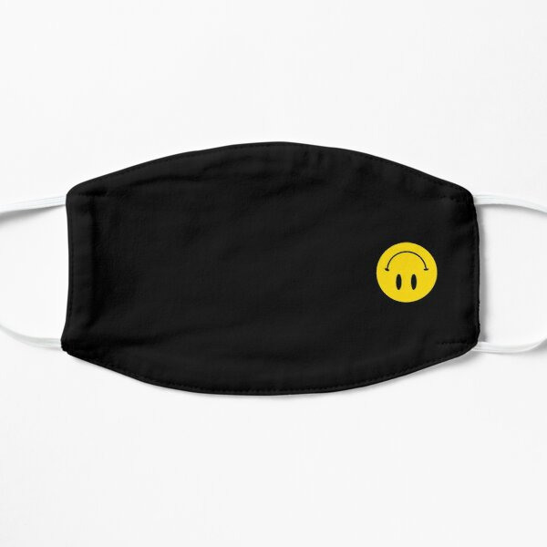 Upside Down | Happy Face | Black | Smiley |  Flat Mask