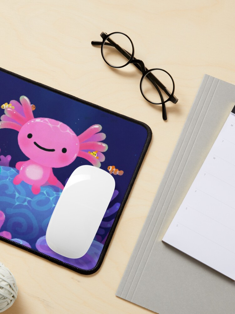 Alternate view of Coral axolotl Mouse Pad