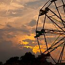 Ferris Wheel at Dusk by Russell Fry