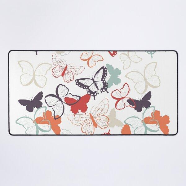 Butterfly Random Pattern Desk Mat