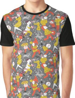 Mid Century Marching Band Parade Graphic T-Shirt