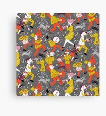 Mid Century Marching Band Parade Canvas Print