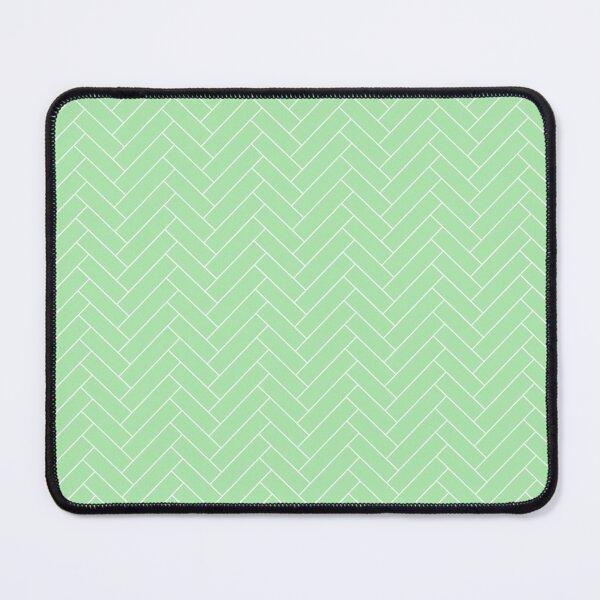 Abstract Modern Minimal Elegant White Green Zigzag Brick Floor Chevron Pattern Mouse Pad