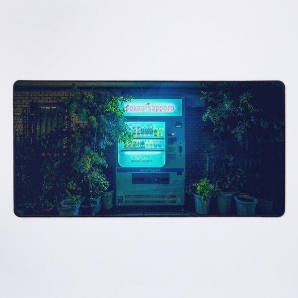 Japanese Vending Machine In The Midnight Rain Desk Mat
